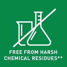 Free from harsh chemical residues